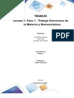 Formato Entrega Trabajo Colaborativo – Unidad 1 Fase 1 - Trabajo Estructura de La Materia y Nomenclatura_Grupo201102_6