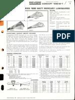 Revere Concept 1000w Mercury Series Bulletin 1966