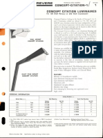 Revere Concept Citation Mercury & Incandescent Series Bulletin 1966