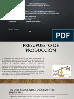El Presupuesto de Produccion
