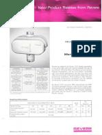 Revere New Product Release - 1102 Two Lamp Mercury Ballast Bulletin 1967