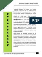 TRABAJO DE DIRECCION Y PLANEAMIENTO ESTRATEGICO