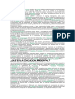 Documento Educacion Ambiental y Objetivos