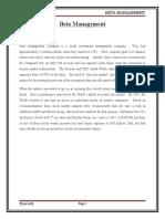 Beta Management Company Summary