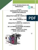 Unidad 1 Arquitectura de Computadorad