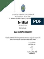 Sertifikat Safety Training Tk Ums
