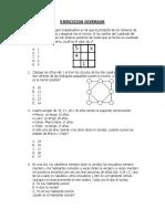Ejercicios de Razonamiento Matemático