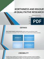 Trustworthiness and Rigour - Maternitas Klp 1