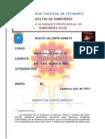 Informe de Suelos II Corte Directo