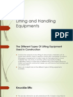 Lifting and Handling Equipments Ppt