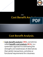 Cost Benefit Analysis. (CBA) Pptx
