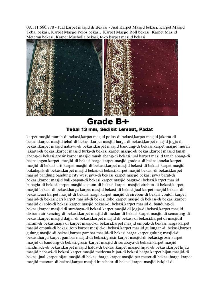 O8111666878 Jual Karpet Masjid Roll Di Kiaracondong Bandung