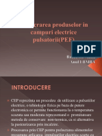 Prelucrarea Produselor in Campuri Electrice Pulsatorii(PEF)