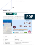 PDMS Shortcuts _ the Piping Engineering World