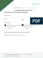 Habilidades de comprensión y factores textuales en los primeros grados