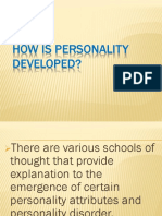 How is Personality Developed