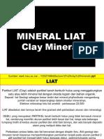 Dasar Ilmu Tanah Ciri Mineral Liat