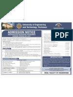 UETAdmission Schedule 23-08-2010
