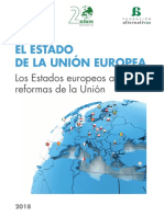 Informe del estado de la Unión Europea (2018). Fundación Alternativas