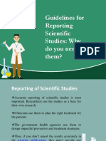 Guidelines for Reporting Scientific Studies