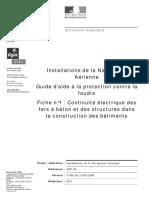 Continuite Electrique des Fers à Béton et des Structures dans la Construction des Batiments.pdf