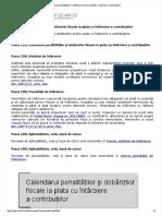 Calculul Penalitatilor Si Dobanzilor Fiscale La Plata Cu Intarziere a Contributiilor