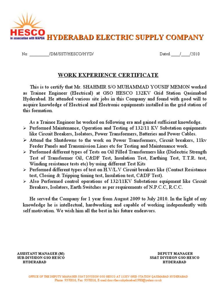 Work experience certificate 1 yadclub Choice Image