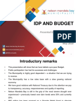 Nelson Mandela Bay IDP and Budget