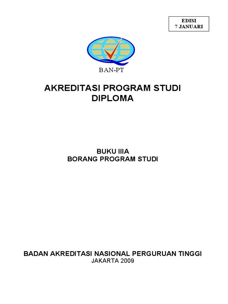 Buku 3a Borang Akreditasi Program Diploma