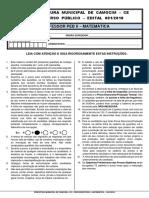 CONCURSO PROFESSOR DE MATEMÁTICA CATEGORIA II - PREFEITURA DE CAMOCIM/CE