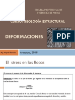 Deformaciones en  Geologia Estructural