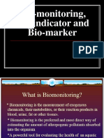 Biomonitoring-Bioindicator- Biomarker