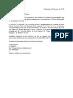 Carta a La Dirección de HC.