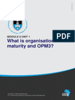 What is Organisational Maturity and Opm3