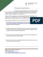 Employment Training Self Employment Entrepreneur Self Assessement