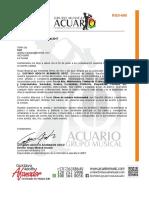 Grupo Musical Acuario - Cotización Rg5-600