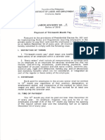 Labor Advisory No_ 17-16 Payment of Thirteenth Month Pay
