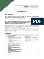 Daikin - Recruitment Notice