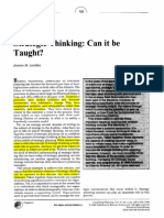 1998-Strategic Thinking_can It Be Tought-handout