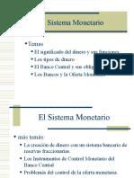 Dinero y Sistema Monetario