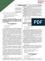 RM 233-2018-MINAGRI - Aceptan Renuncias de Asesores I de La Alta Dirección - Despacho Ministerial