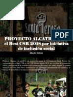 Alberto Vollmer - PROYECTO ALCATRAZ Gana El Best CSR 2018 Por Iniciativa de Inclusión Social