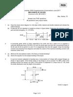 9A01301 Mechanics of Solids