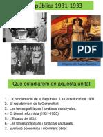 Tema 5 La Segona Republica 1931 19331