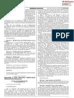 RM 202-2018-EF - Aprueban El Plan Operativo Institucional (POI) 2019 Del Ministerio