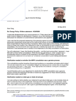 Keith Taylor MEP writes to Greg Clark MP in response to BEIS Secretary's Fracking statement