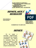 Deporte Arte y Recreacion