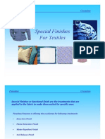 Special Finishes of Textiles