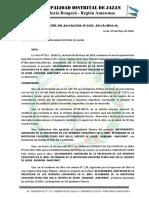 Resoluciones de Comite de Rececpion de Colegio Pedro r