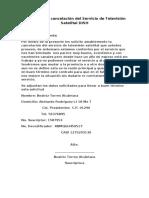 64684769 Carta Para La Cancelacion Del Servicio de Television Satelital DISH